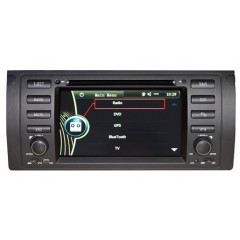 "BMW X5 E53 (00-07) & E39 M5 (96-03) 7"" Car Radio DVD CD GPS Sat Nav iPod BT USB - D9MMI"