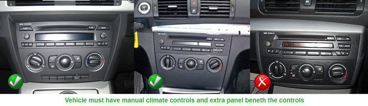 BMW 1 Series 2004 Onwards E81, E82, E87, E83 Models Manual Climate Controls