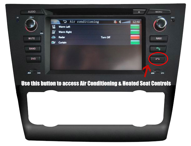 D8XMMI Heated Seat and Air Conditioning Control For BMW 1 series